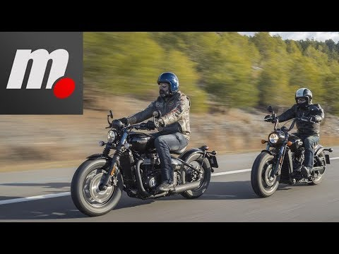 Indian Scout Bobber vs Triumph Bonneville Bobber Black | Comparativo / Review en español | motos.net