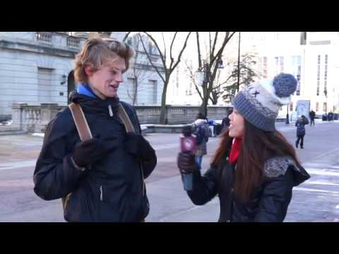 Students on the Street - Holiday gifts