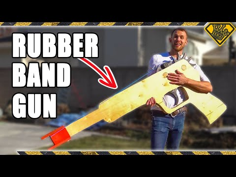 World's Largest Working Rubber Band Gun!