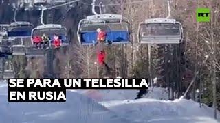 Evacuan a 170 personas de un telesilla en Rusia