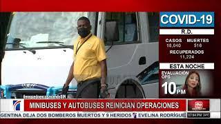 Minibuses reinician operación