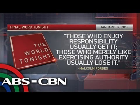 The World Tonight: The Final Word | January 7, 2019