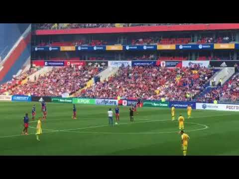 Дирижер Антон Гришанин нанёс первый удар по мячу в матче между ЦСКА и «Анжи»