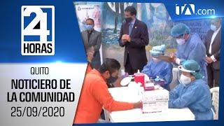 Noticias Ecuador: Noticiero 24 Horas, 25/09/2020 (De la Comunidad Primera Emisión)