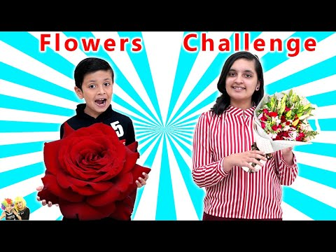 11 FLOWER CHALLENGE | General Knowledge for kids | Garden games for kids | Aayu and Pihu Show