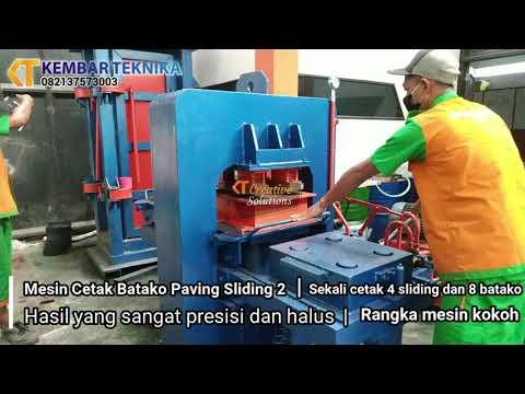 Mesin Cetak Batako Paving Sliding 2 Sisi
