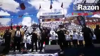 Más de 5.000 músicos interpretan una selección de morenadas, durante el Festival de Bandas de Oruro