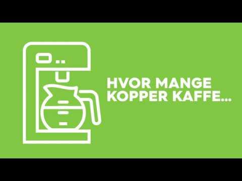 Hvor mange kopper kaffe kan du brygge for 1 kWh?