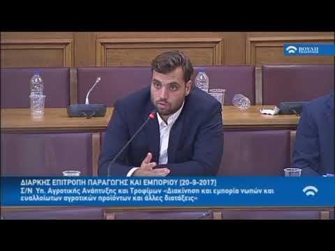 Α.Μεγαλομύστακας /Διαρκής Επιτροπή Παραγωγής και Εμπορίου/20-9-2017