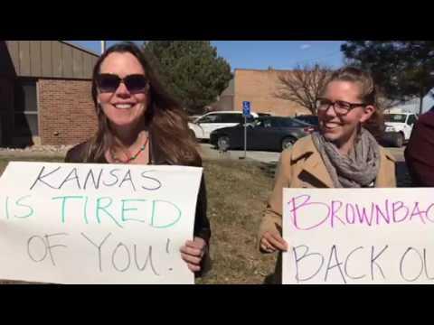 Brownback protest