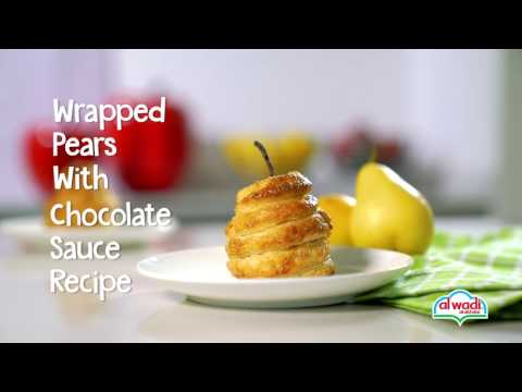 Wrapped Pears with Chocolate Sauce Recipe