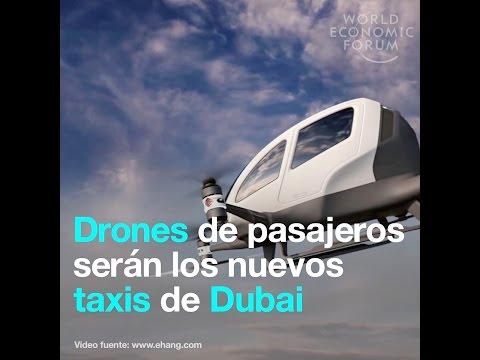 Drones de pasajeros serán los nuevos taxis de Dubai