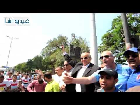 بالفيديو. محافظ القليوبية يعطى اشارة بدء انطلاق مارثون الدراجات للشباب