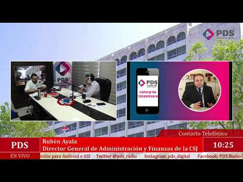 Estuvimos en comunicación con Rubén Ayala Director General de Administración y Finanzas de la CSJ