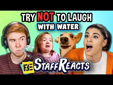 connectYoutube - Try to Watch This Without Laughing or Grinning WITH WATER! #8 (ft. FBE STAFF)