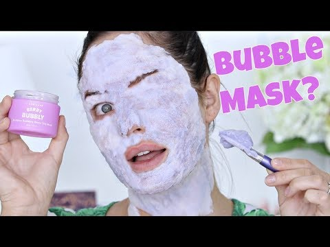 TESTING: Purple Bubble Mask!!! Foamy Korean Skincare!