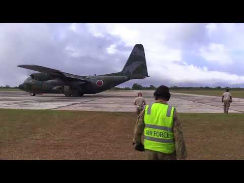 DFN: Cope North 2018, JASDF Aeromedical C-130 flight, UNITED STATES, 02.20.2018
