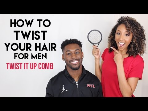 How To Twist Your Hair For Men! Twist It Up Comb! | BiancaReneeToday