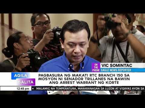 Pagbasura ng Makati RTC branch 150 sa mosyon ni Trillanes na bawiin ang arrest warrant ng korte