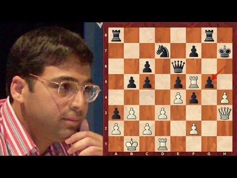 Amazing Chess Game:  Vishy Anand vs Alexander Grischuk : Tal Memorial (Rapid) (2018):  Sicilian