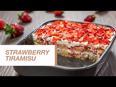Tiramisu recipe | How to Make Strawberry Tiramisu | Food Channel L Recipes