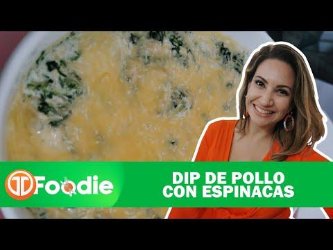 TM FOODIE  | RECETAS SALUDABLES | DIP DE POLLO CON ESPINACAS.