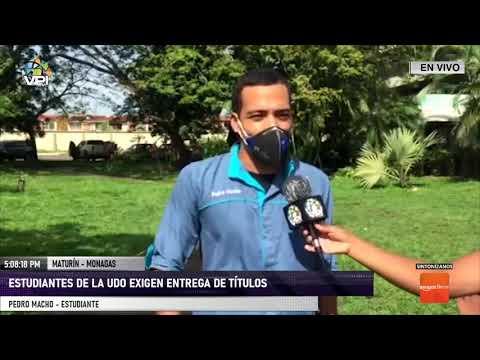 Estudiantes del núcleo de la UDO en el estado Monagas, exigieron entrega de títulos - VPItv
