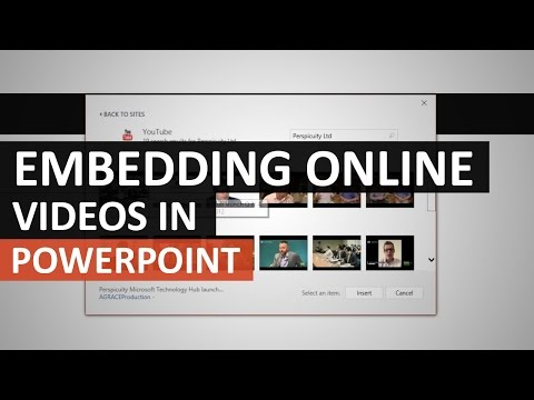 Embedding YouTube videos in your PowerPoint