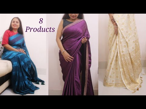 Sarees to Make you Look Rich & Royal - Amazon Saree and Blouse Haul