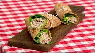 Burritos de atún y vegetales