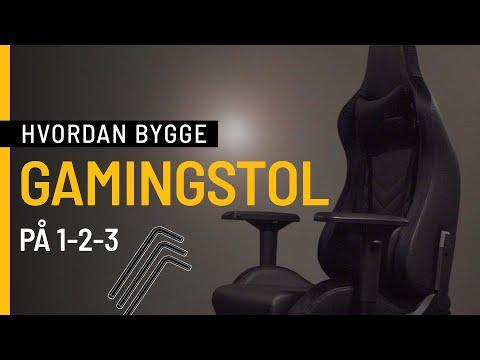 Hvordan bygge en gamingstol på 1-2-3?