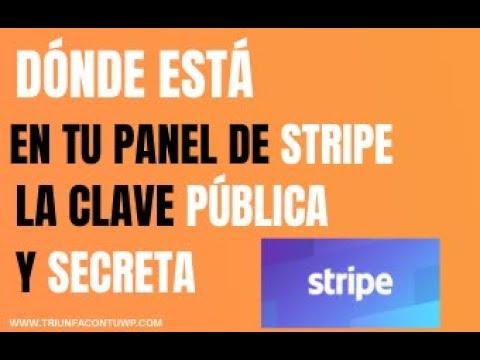 ✅DONDE ESTÁ EN TU PANEL DE STRIPE 💳 LA [CLAVE PÚBLICA Y SECRETA]