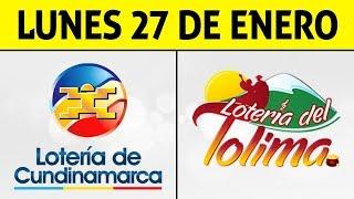 Resultados Lotería de CUNDINAMARCA y TOLIMA Lunes 27 de Enero de 2020 | PREMIO MAYOR ????????????