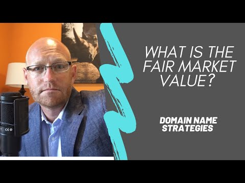 What is the fair market value for your domain name?