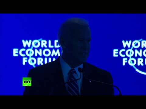 Lights go out on Biden as he talks of US 'leadership' in Davos speech
