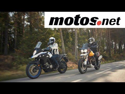 Comparativo Moto Guzzi V85TT vs Suzuki V-Strom 650 XT   Review en español HD   motos.net