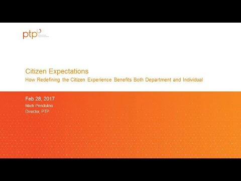 """GTI2017 Sn10a:  Citizen Expectations of """" Self Service"""" - PTP"""