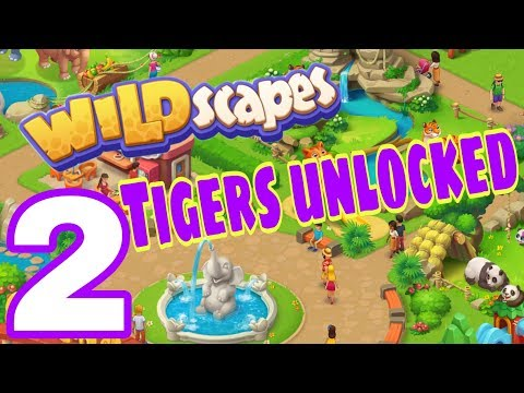 WILDSCAPES - iOS Gameplay Walkthrough Part 2 iOS - Tigers Unlocked