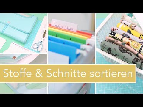 Schnittmuster & Stoffe sortieren | Nastjas Nähtipps