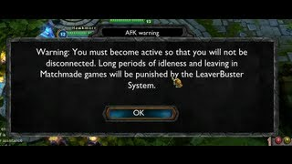 How to report afk players in lol