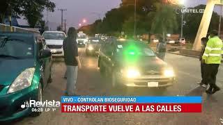 Instalan puntos de controles en Santa Cruz para el transporte público y privado