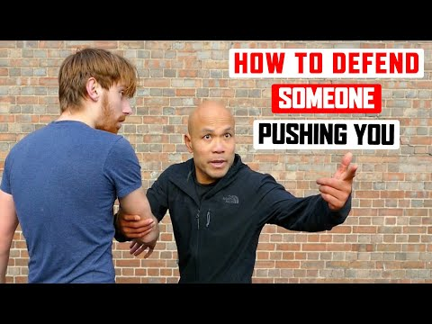 How to Defend Someone Pushing you ✅   Lesson 1 | Master Wong