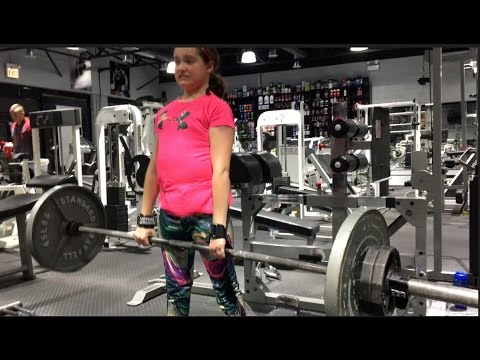 10 Year Old Kami Deadlifts 175lbs and Trains with Dad Marc Lobliner