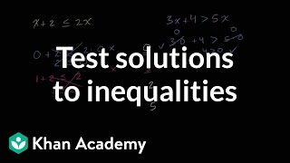 Testing solutions to inequalities