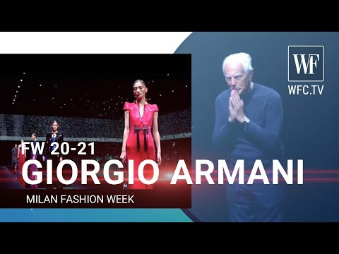 Giorgio Armani fall/winter 20-21 Milan fashion week