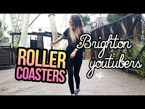 MOVING VLOG: Brighton YouTubers & Rollercoaster Rides