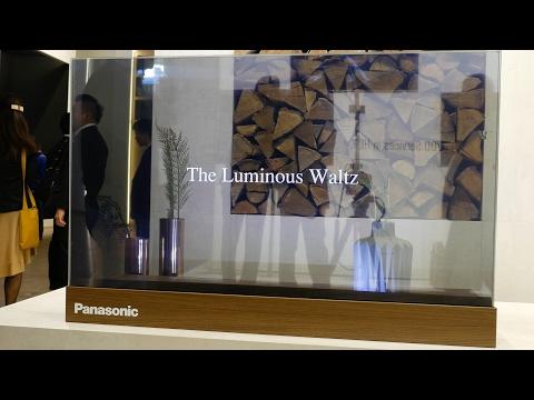 Panasonic Transparent OLED TV & Technics SL-1210GR Turntable