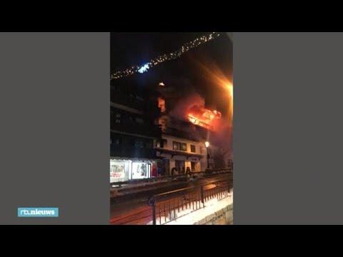 'Ze sprongen van het balkon', houten hotel in Franse skiplaats brandt uit - RTL NIEUWS