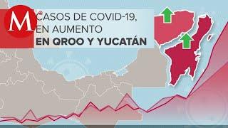 López-Gatell alerta de repunte en casos de covid-19 en QRoo y Yucatán;