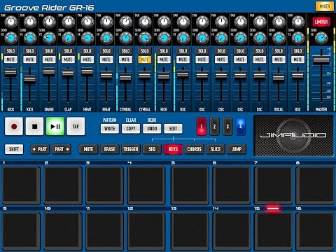 GROOVE RIDER GR-16 - Just Playing with the Grooves - Demo for the iPad